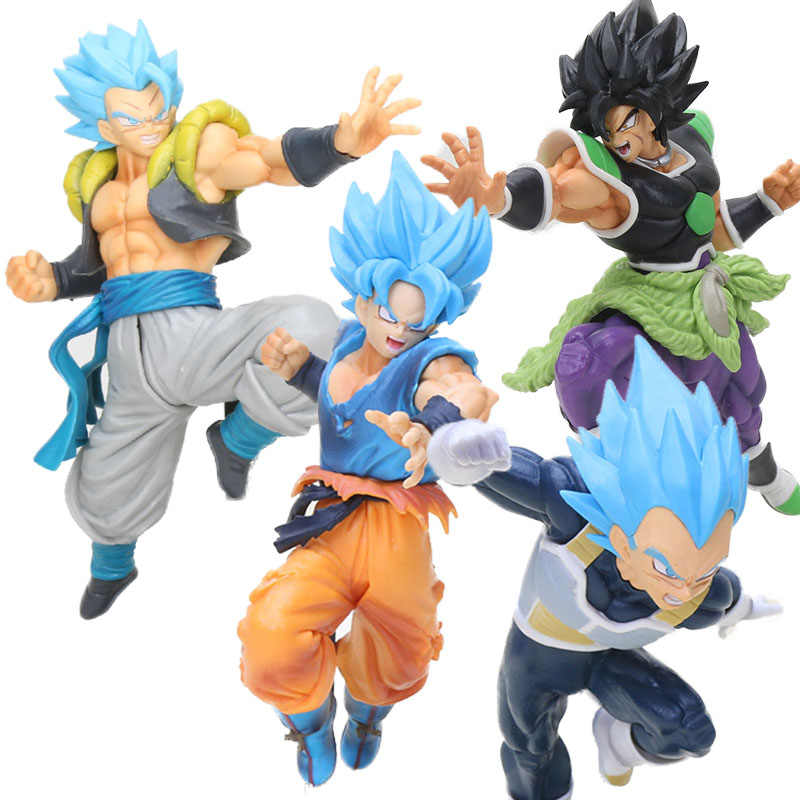 dragonball Broli figurine SUPER ULTIMATE SOLDIERS-THE MOVIE Broly blue hair Dragon ball Z gogeta vegeta Figure Brinquedos Toys