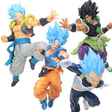 dragonball Broli figurine SUPER ULTIMATE SOLDIERS-THE MOVIE Broly blue hair Dragon ball Z gogeta vegeta Figure Brinquedos Toys(China)