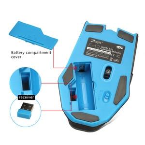 Image 5 - Беспроводная мышь 2,4G 2400DPI, беспроводная оптическая мышь, универсальная компьютерная мышь левой и правой рукой, Беспроводная игровая мышь