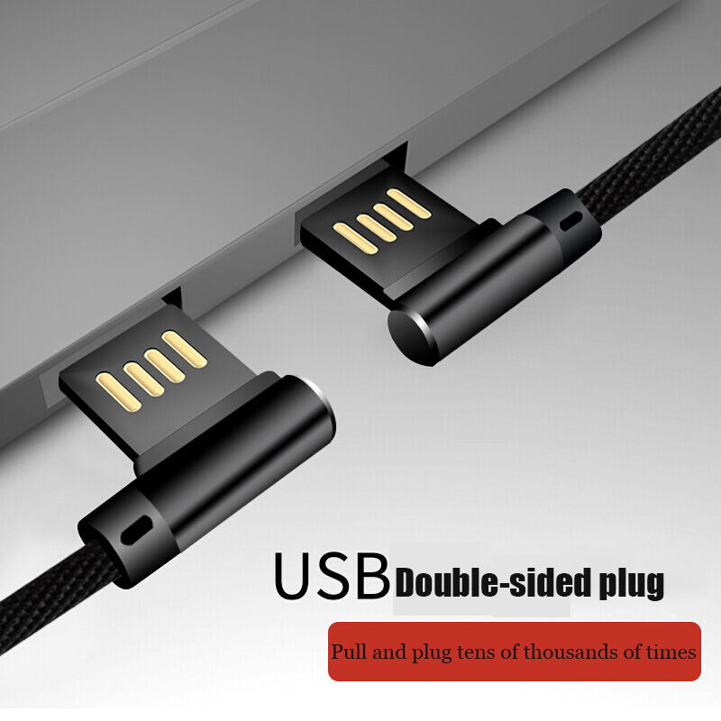 Suntaiho Double-sided Plug USB Cable for iPhone XR XS Max Fast Charging for iPhone lightning cable 7 8 plus 5 SE 6 cord data USB