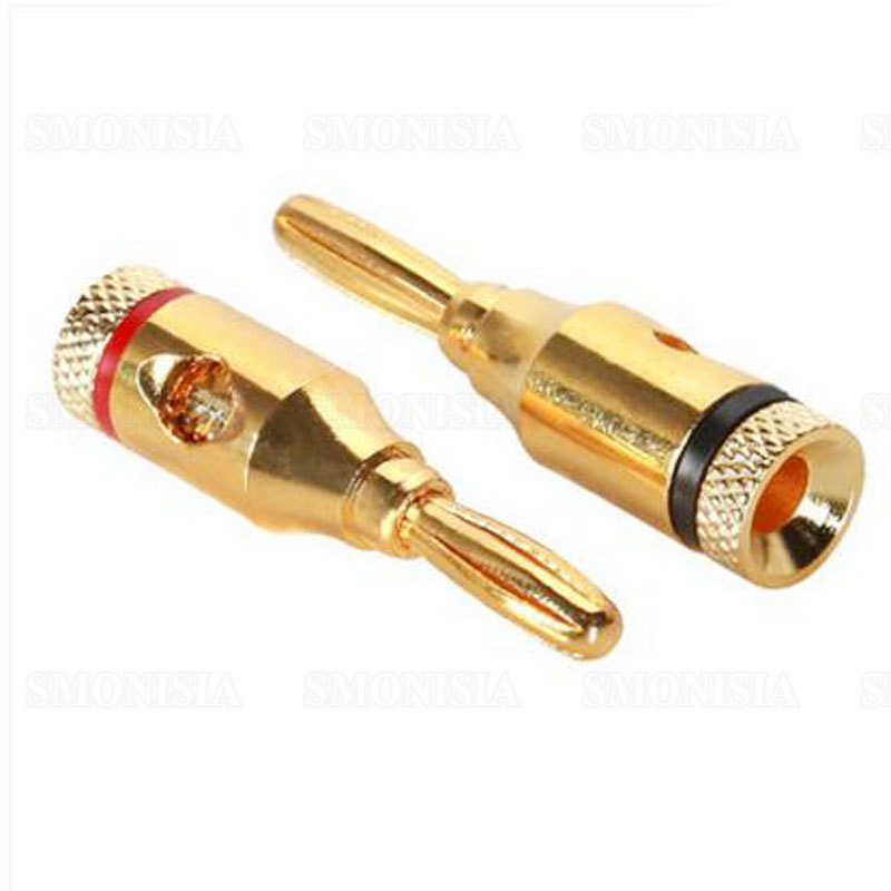 250 Pcs Musical Audio Speaker Cable Wire 4mm Gold Plated Banana Plug Connector mpsource tena hi end 99 99997% occ 24k gold plated banana speaker connector plug bi wire speaker audio cable amplifier 1 pair
