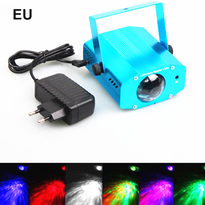 Remote control LED water ripples linght 7 color marine dynamic water ripple effect lights KTV background stage lighting лампочка marine lighting 3w 5w 9w2u