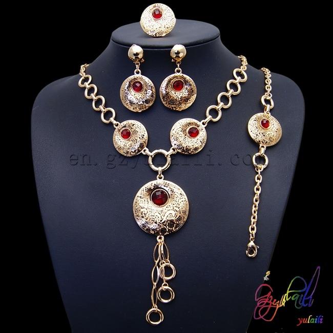 Ensemble de bijoux de couleur or ensembles de bijoux de haute qualité ensemble de bijoux de charme de mariée de mariage africain