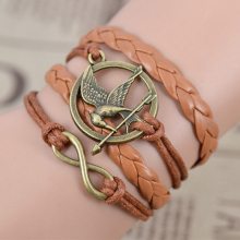 The Hunger Games Brown Leather Bracelet