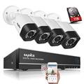 SANNCE 8 Канала 1080N HD-TVI DVR Система Безопасности 4 шт. 720 P Всепогодный Крытый/Открытый Камеры ВИДЕОНАБЛЮДЕНИЯ Системы