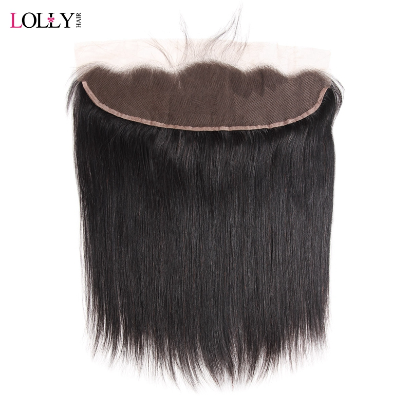 Lolly Brazilian Straight Hair Frontal Natural Hairline Ear To Ear Lace Frontal Closure 13x4 Inch Non Remy Human Hair Frontal 1pc