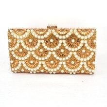 Goldene Frauen Handtasche Messenger Party Luxus Handtaschen Damen Diamant Taschen Designer Schultertasche Handtaschen Abendtaschen 823