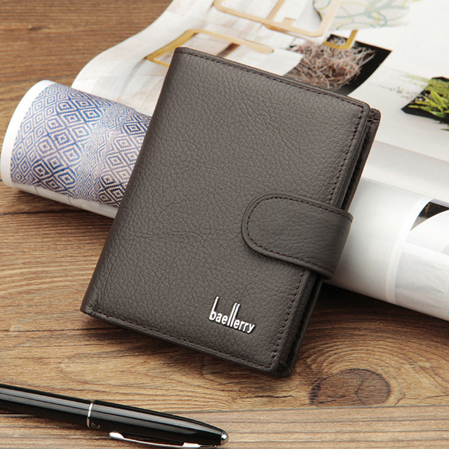Classic Fashion Wallets Man Genuine Cow Leather Walet Short Hasp Wallet for men multifunction Purse Zipper Coin Pocket Slim