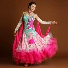sequins standard ballroom dress woman ballroom dance dress waltz dress ballroom dance competition dresses tango costumes Foxtrot
