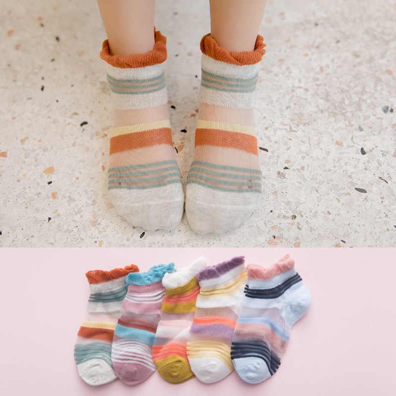 ฤดูใบไม้ผลิและฤดูร้อนใหม่ ultra-thin breathable polka dot ลายผ้าฝ้ายถุงเท้าสั้นสตรีสบายๆถุงเท้า