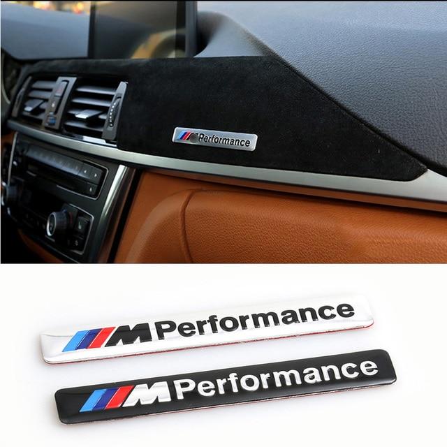M performance motorsport metal logo car sticker aluminum emblem grill badge for bmw e34 e36 e39 e53 e60 e90 f10 f30 m3 m5 m6 in car stickers from
