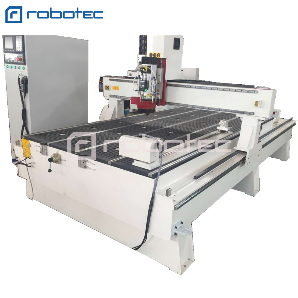 Linear ATC CNC Router Machine 1325 1530 3axis servo motor Syntec operation
