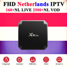 4k Netherlands iptv for android x96 smart tv box+best Dutch Sweden Israel France Spain Portugal UK Poland subscription iptv box(China)