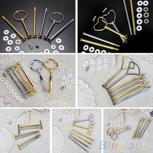 1 Set Multi-Style 2 Or 3 Tier Plate Handle Fitting Hardware Rod Tool Cake Plate Stand Wedding Birthday Party Cupcake Stand58XT