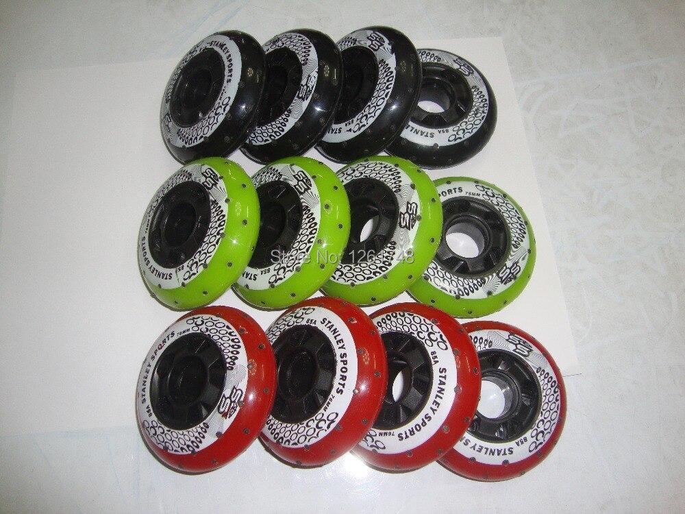Prix pour 8 roues! de patinage chaud produit! livraison gratuite skate roues de roue d'allumage PU85A 72mm76mm80mm