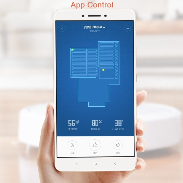 Original XIAOMI MI home Smart Plan type Robotic Vacuum Cleaner with Wifi App control and Auto Charge for home