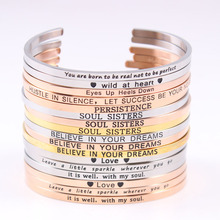 Hot 316L Stainless Steel 3.2mm Band Bangle Engraved Positive