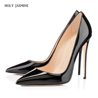 Hot Sale Brand 10cm High Heels Shoes Woman High Heels Pumps Wedding Bridal Shoes Black Heels