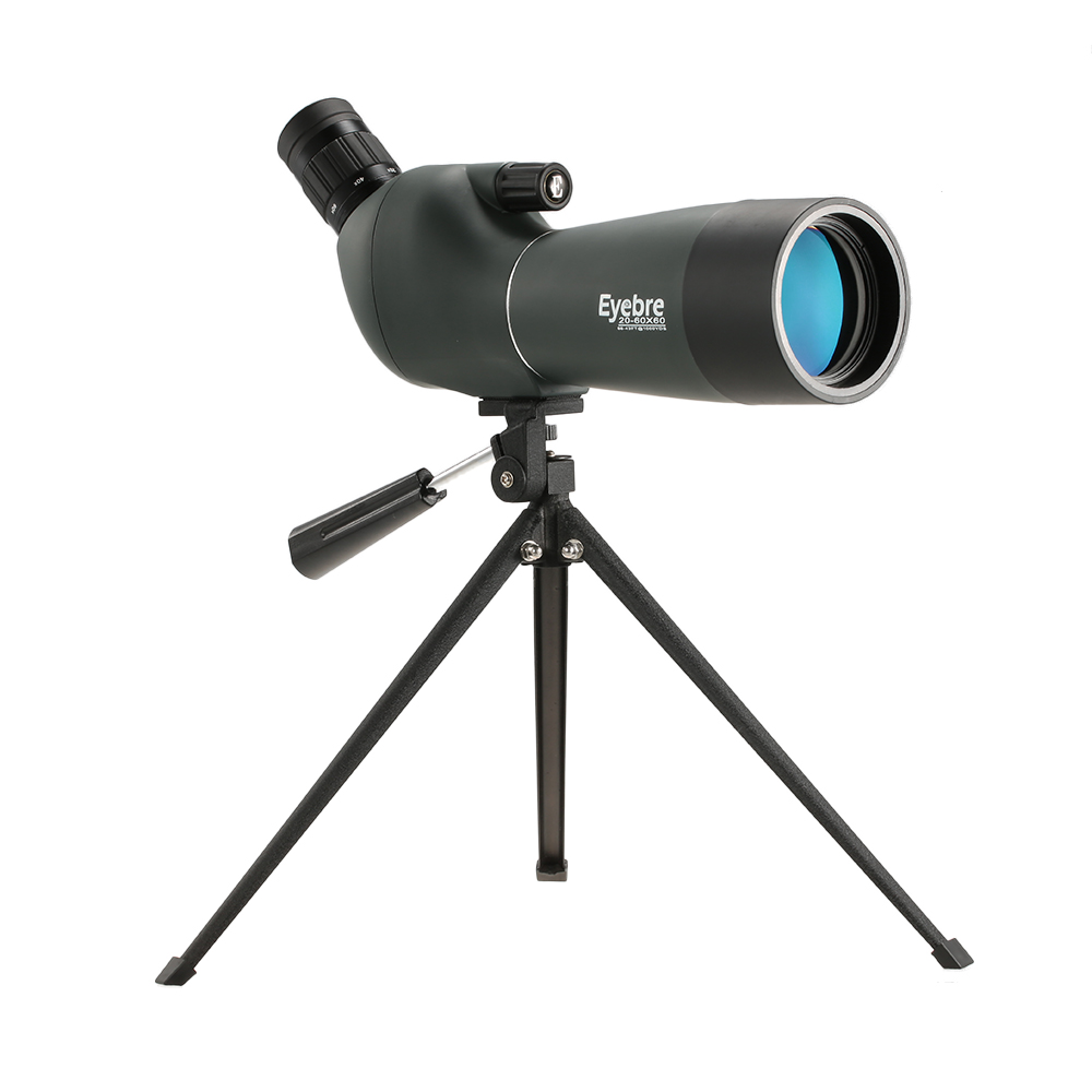20 60x60 Angled Waterproof Spotting Scope Outdoor Hiking Bird Watching Portable HD Monocular Telescope with Tripod Carry Case