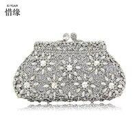 Xiyuan бренд люкс Металл клатч цветочный мешок Для женщин кристалл золотой Алмаз со стразами вечерняя сумочка; BS010 Свадебная вечеринка Сумки к