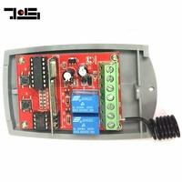 Universal 2 Channel Wireless Garage Door 433MHZ DC12V 24V Rolling Code Receiver Free Shipping