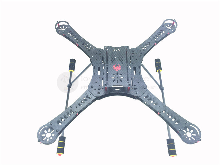 DIY FPV GF410 quadcopter drones pure carbon fiber frame with lightweight landing gear compatible with CX-20 drone with camera eyas 55 7mm 8mm pure carbon fiber brush coreless quadcopter frame for diy fpv micro indoor mini drone with camera