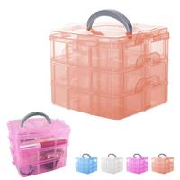 Plastic Design 3 Floor Detachable Portable Storage Container Organizer Makeup Tools Box Case