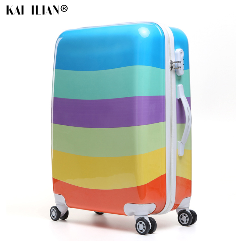 Women Travel Luggage Case Spinner suitcase Men Rolling Case On Wheels 20/22/24/26 inch Lady Travel Wheeled Suitcase trolley bag little book of earrings