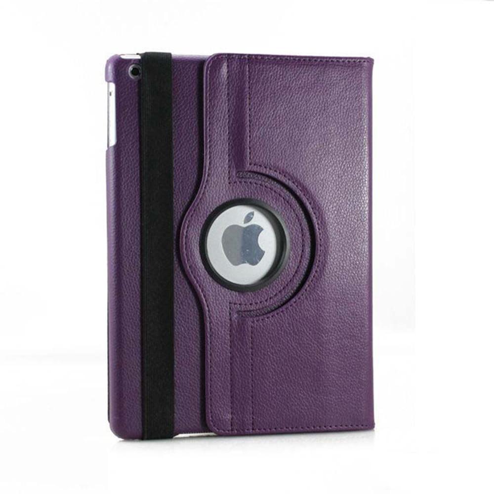 360 Degree Rotating Stand Smart Wake and Sleep Lichi Grain PU Leather Folding folio Cover Case for Apple iPad 2 iPad 3 iPad 4