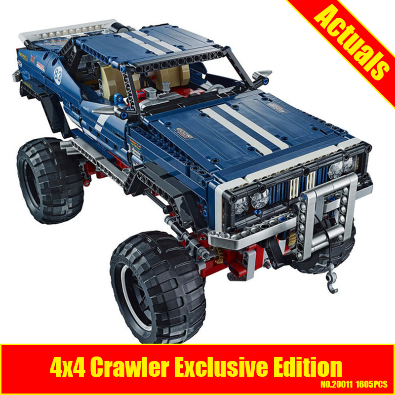 lepin 20011 NEW 1605pcs technic remote control electric off-road vehicles building block DIY toys compatible with 41999 advanced intelligent vehicles control