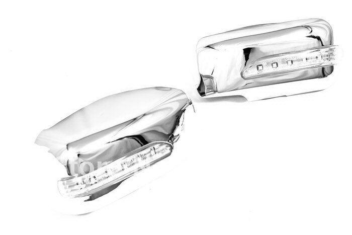 Couvercle de miroir chromé de haute qualité avec clignotant latéral à LED pour Mitsubishi Lancer Evolution Gen 7/8/9 livraison gratuite