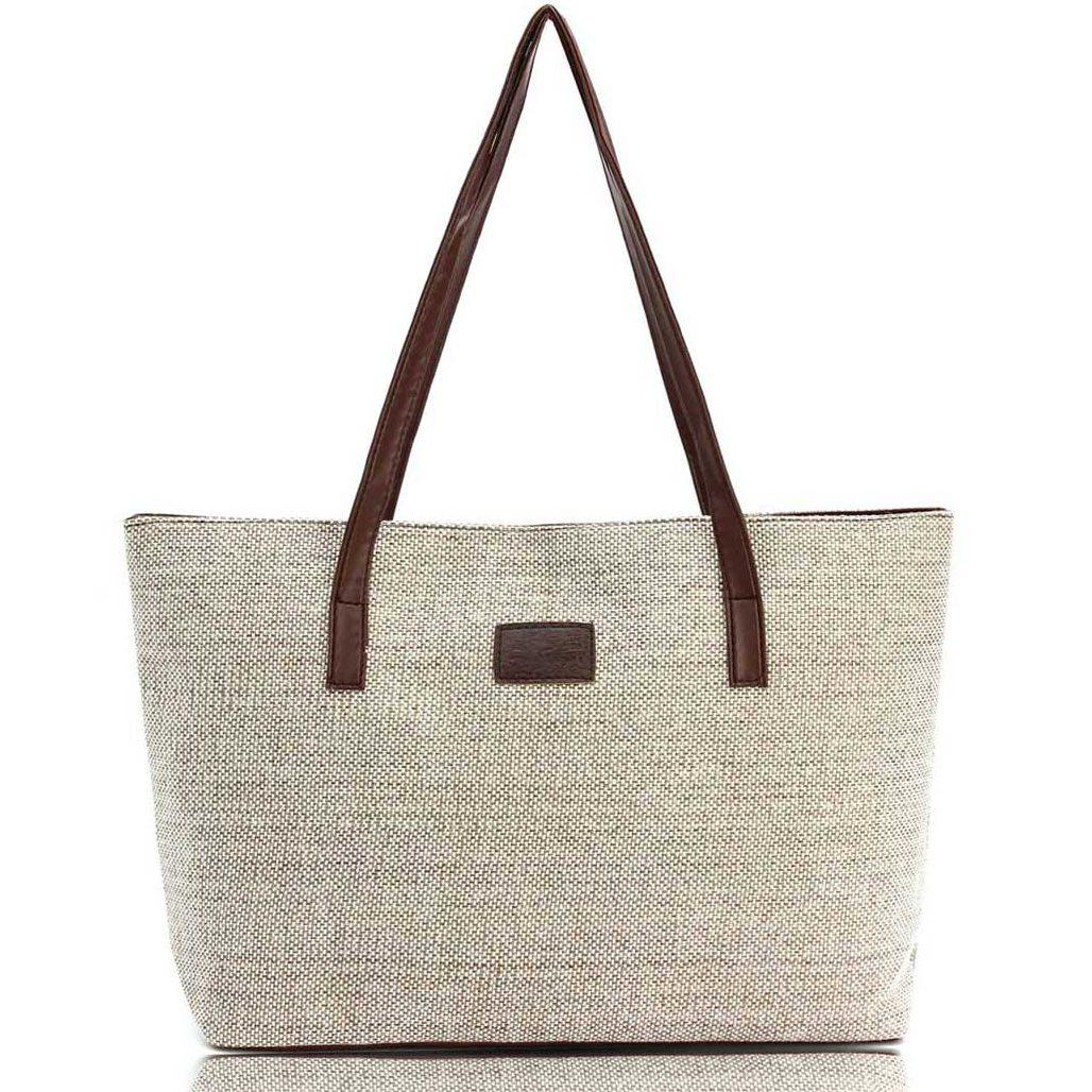 Women Handbag Canvas Shoulder Bags Appliques Portable Bag Large Capacity Lady Shopping Casual Totes 2017 Summer Style S-48