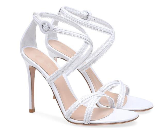 Classic summer woman wnite/black cross-tied high heel sandals Fashion super high thin heel shoes Ladies dress shoes Party shoes asumer black apricot fashion summer ladies shoes cross tied peep toe high heel sandals shoes elegant wedding shoes thick heel