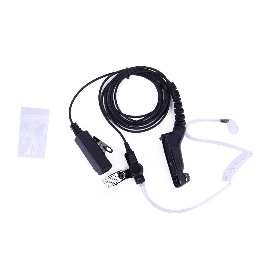 Security Guard Headset Air Tube Earpiece PTT Mic For Motorola Portalbe Radio MTP6550 MTP6750 DGP4150 Walkie Talkie Earphone