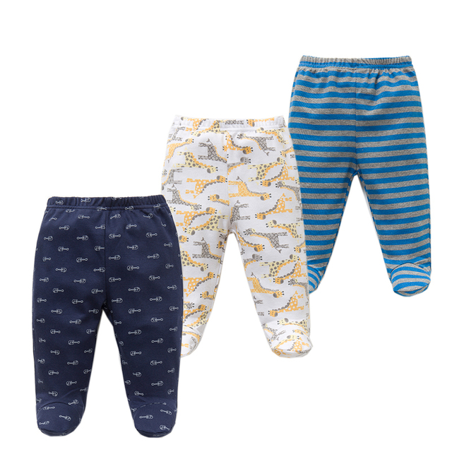 3PCS/lot Baby Pants 100% Cotton Autumn Spring Newborn Baby Boys Girls Trousers Kid Wear Infant Toddler Cartoon For Baby Clothing 1