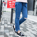 Meninas Buraco Calça Jeans de Algodão Casual Crianças Roupas de outono Crianças Meninas Calças Jeans Primavera De Longa Duração