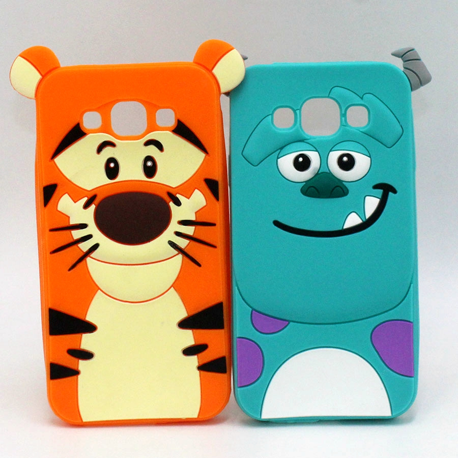 For Samsung Galaxy A5 A7 Phone Cases Cartoon Sulley Alice Cat Tiger Soft Silicone Cover For Samaung J1 ACE J1 mini 2016 J3 J5 J7