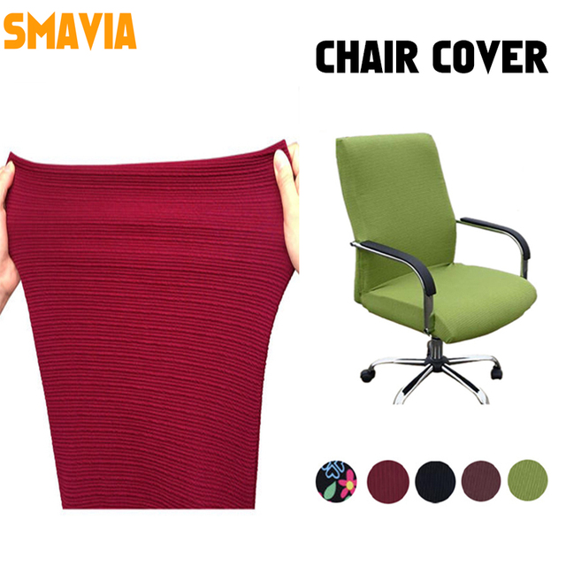 Smavia Modern Spandex Computer Chair Cover 100 Polyester Elastic Fabric Office 12 Colors
