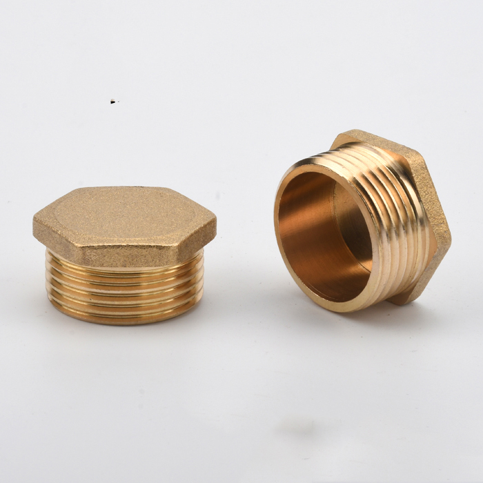 free shipping 10 Pieces Brass 3/8 Male To 1/2 Female BSP Reducing Bush Reducer Fitting Gas Air Water Fuel Hose Connector
