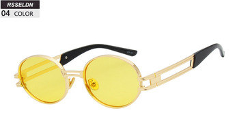 7dfa0756997cc RSSELDN Retro Small Round Sunglasses Men Male Vintage Steampunk Sunglass  Women Hip Hop Gold Glasses Luxury Brand Eyewear UV400