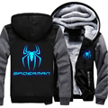 Superhero Spider-Man USA size Men Women  Luminous Jacket Thicken Hoodie Coat Clothing Casual
