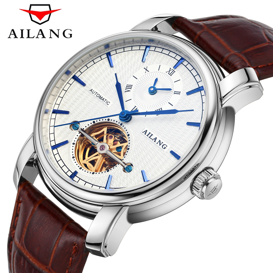 AILANG Classic Mens Watches Top Brand Luxury Automatic Watch Golden Case Calendar Male Clock Mechanical Watch relogio masculino светильник настенный бра citilux cl534512 e14x60w 5790080105331
