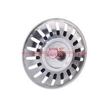 Kitchen Waste Stainless Steel Sink Strainer Plug Drain Filter Stopper Basket Drainer G07 Drop ship