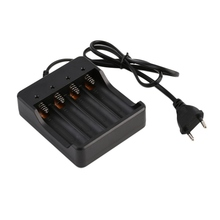 18650 Battery Charger US/EU plug 4 Slots Intelligent with sh