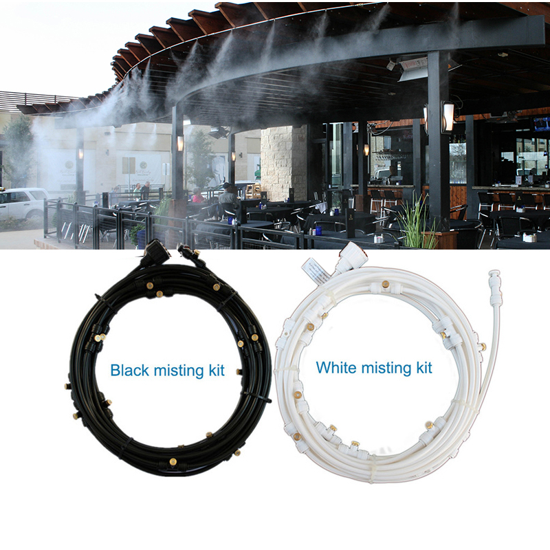 F297 Outdoor Misting Cooling System Kit for Greenhouse Garden Patio Waterring Irrigation Mister Line 6M 18M