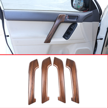 4 шт сосновый лес зерна ABS салона автомобиля Дверная ручка отделкой для Toyota Land Cruiser Prado FJ150 150 2010-2018 авто аксессуары
