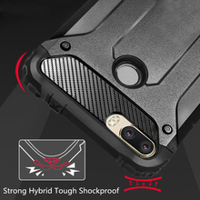 Luxury Armor Shockproof Case On The For Xiaomi Redmi 7 Note 6 Pro 5 Plus Soft Cover Pocophone F1 Back