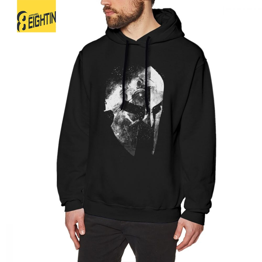 Men's Clothing The Last Warrior Spartan Sparta Helmet.png Mens Hooded Sweatshirts 100% Cotton Amazing Hoodies Summer Style Hoodie Shirt High Standard In Quality And Hygiene