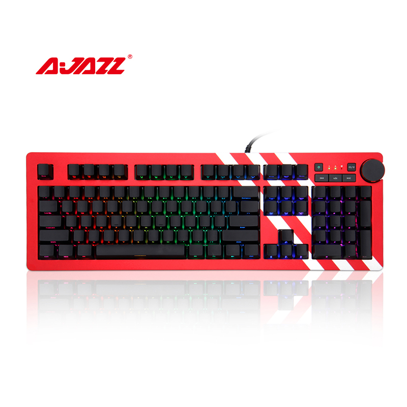 Ajazz AK60 RGB Gaming Keyboard Cherry Silver & Blue Switch 104 keys RGB Backlight ABS Material USB wired Mechanical keyboard пуф dreambag круг cherry