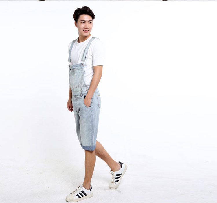 d210c92c29 Male Fashion Denim Jumpsuit Plus Size Mens Denim Bib Overalls For Men  Summer Knee Length Jeans Shorts XS 3XL 4XL 5XL-in Jeans from Men s Clothing  on ...